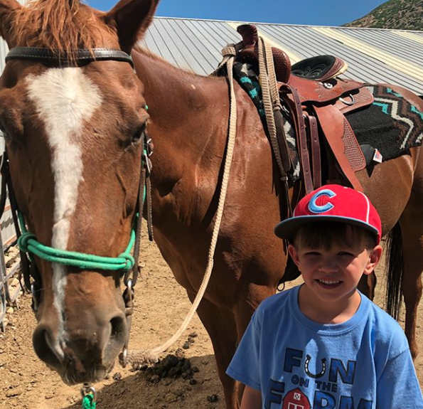 Austin with a horse