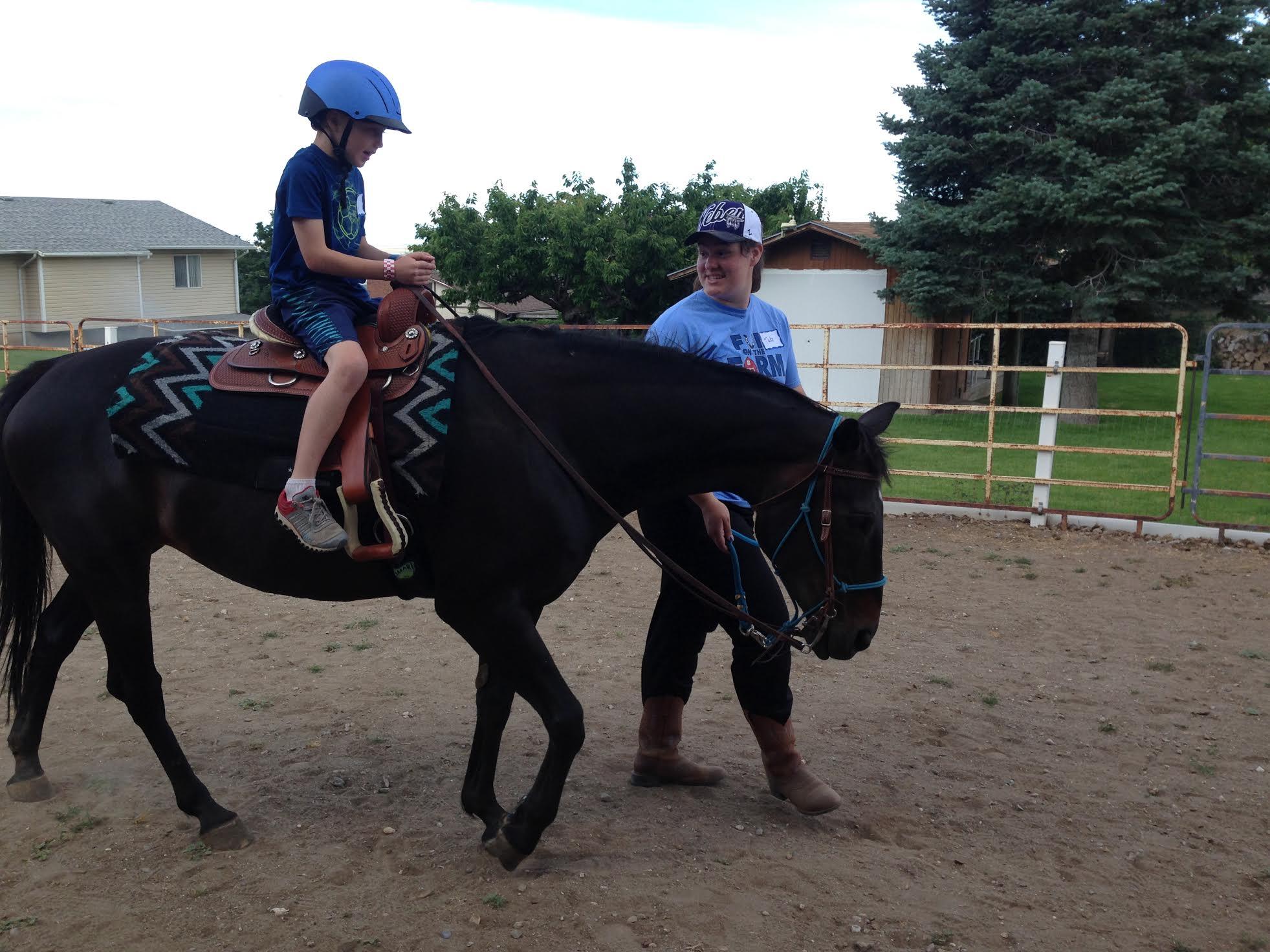 LJ on horse